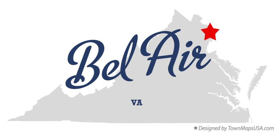 Map of Bel Air Virginia VA