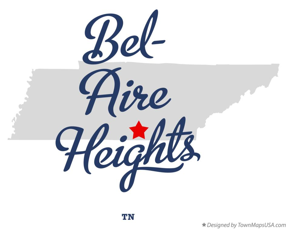 Map of Bel-Aire Heights Tennessee TN