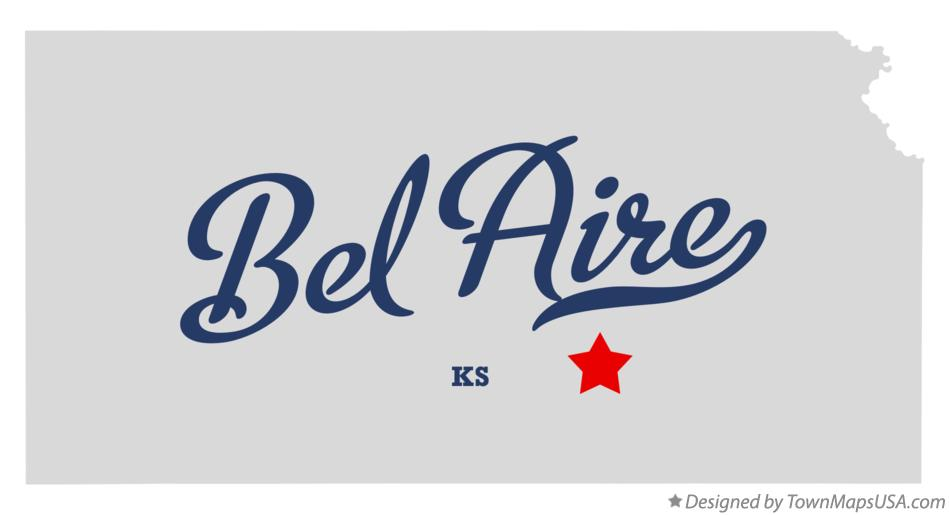 Map of Bel Aire Kansas KS