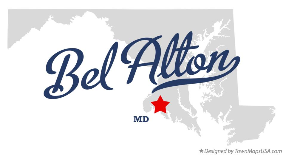 Map of Bel Alton Maryland MD