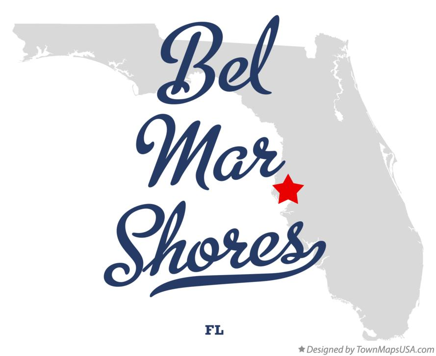 Map of Bel Mar Shores Florida FL