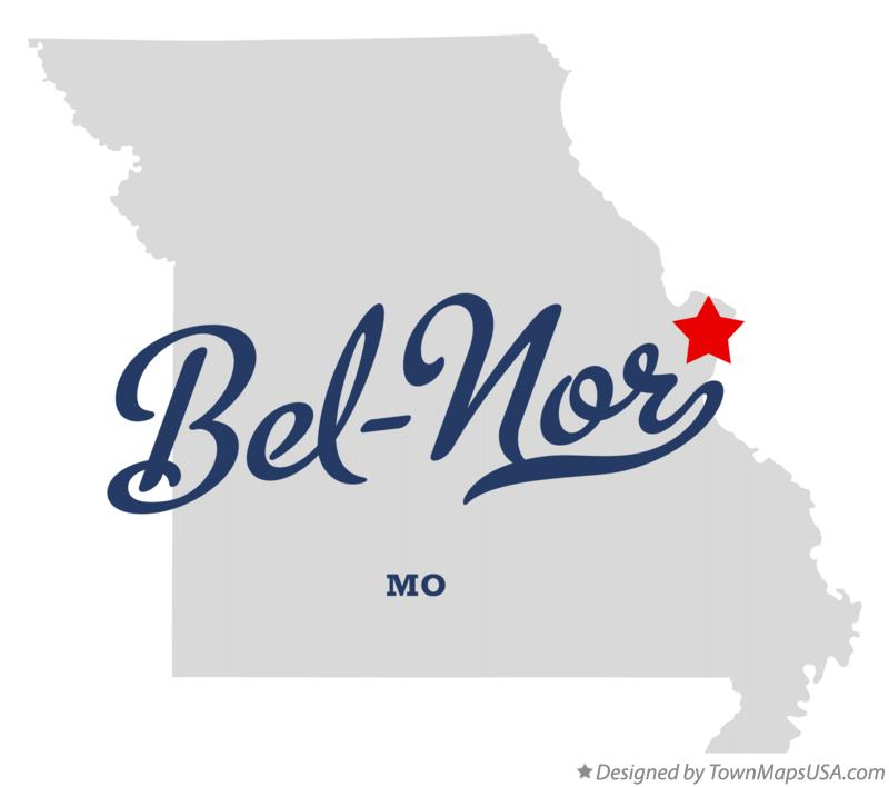 Woodson Terrace (MO) United States  City pictures : Map of Bel nor Missouri MO