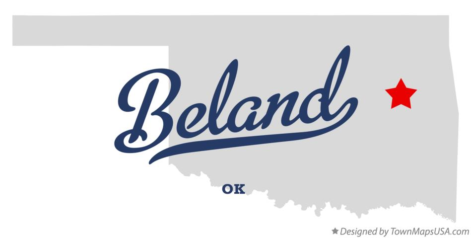 Map of Beland Oklahoma OK