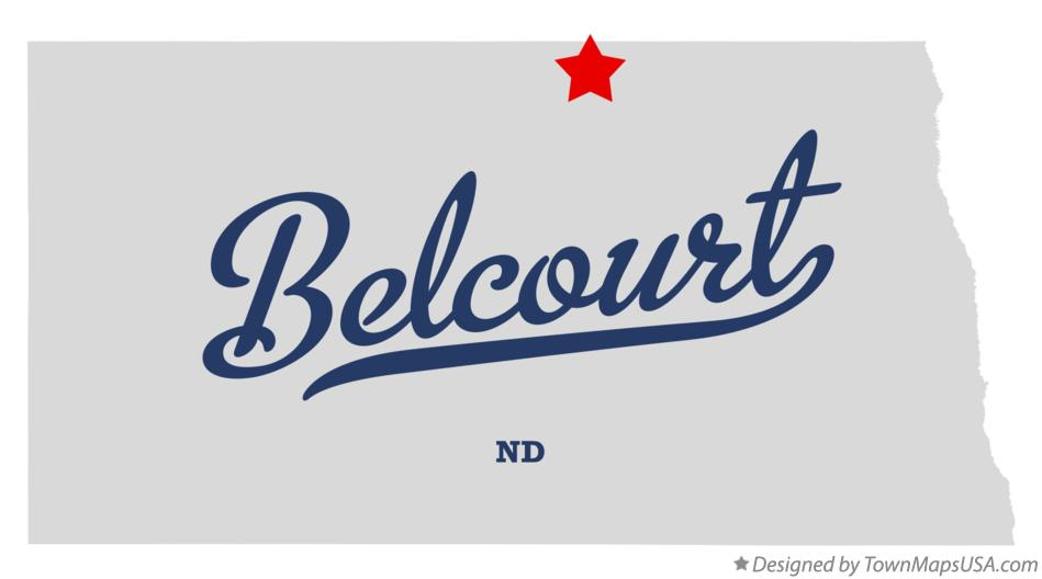 Map of Belcourt North Dakota ND
