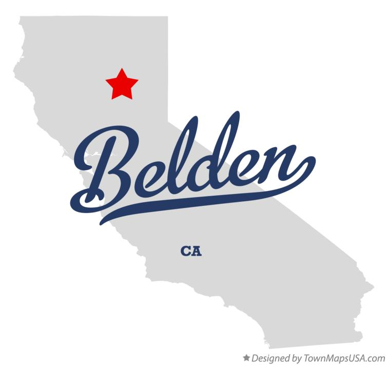 Map of Belden California CA