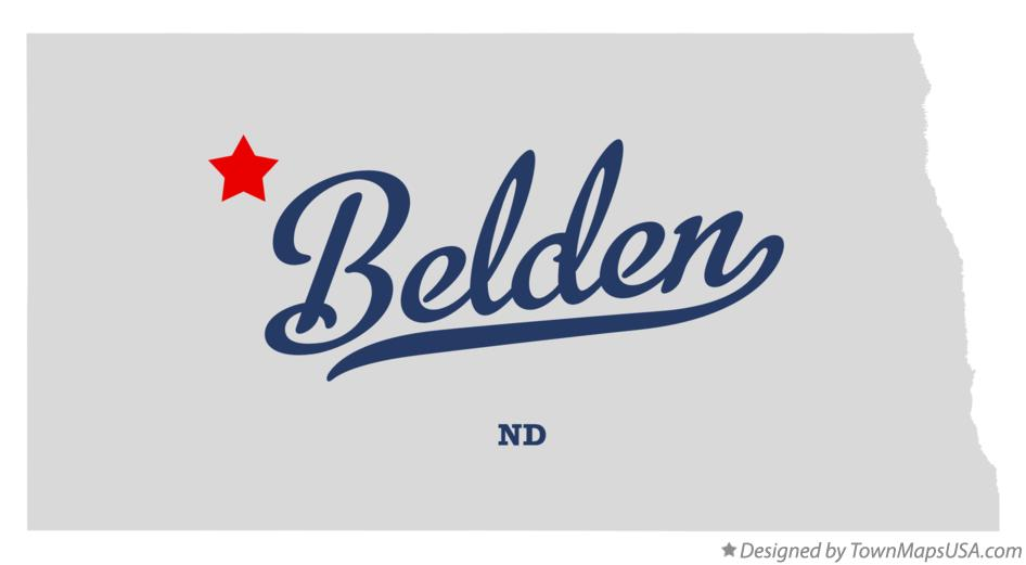 Map of Belden North Dakota ND