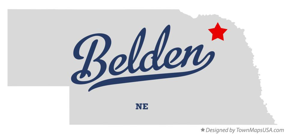Map of Belden Nebraska NE