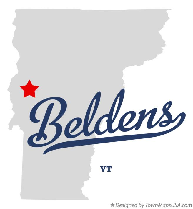 Map of Beldens Vermont VT