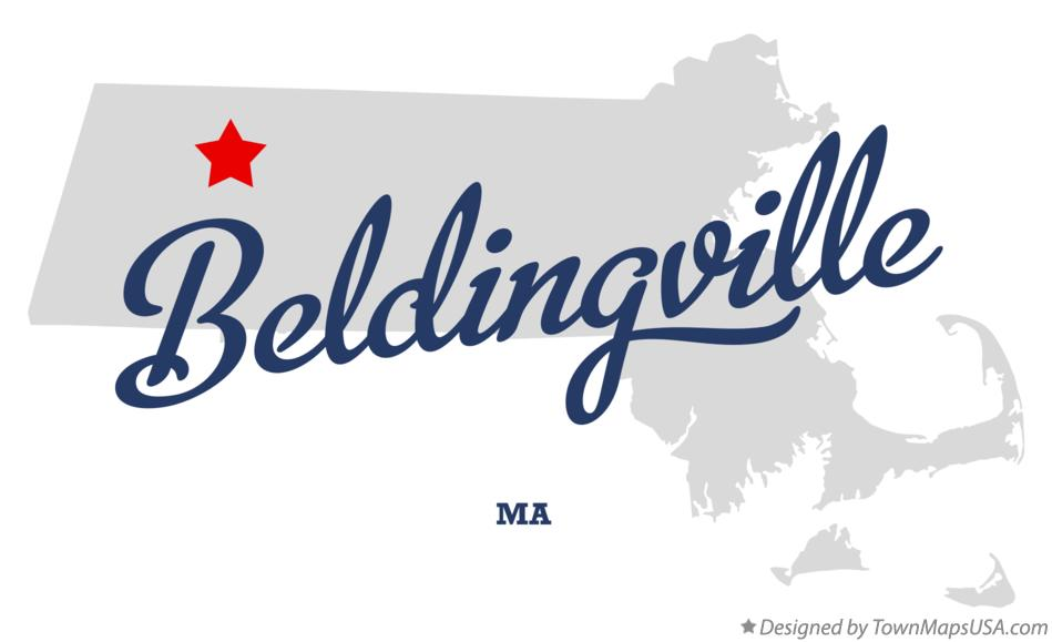 Map of Beldingville Massachusetts MA