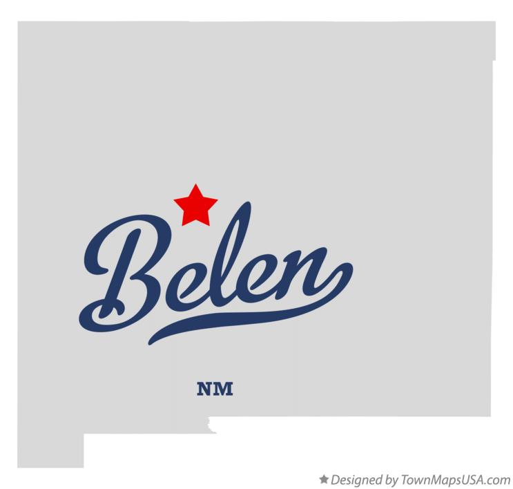 Map of Belen New Mexico NM