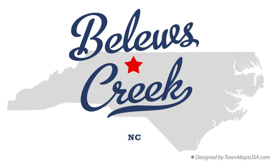 Map of Belews Creek North Carolina NC