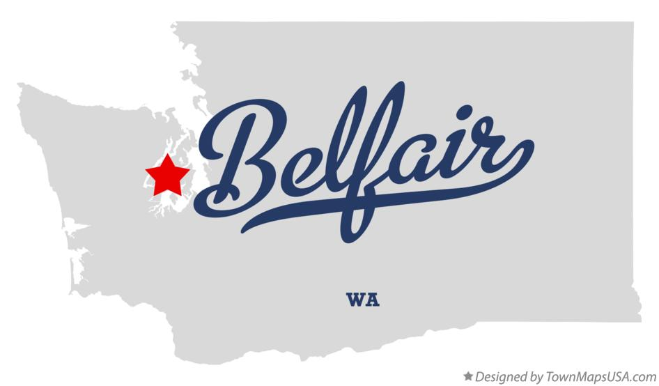 Map of Belfair Washington WA