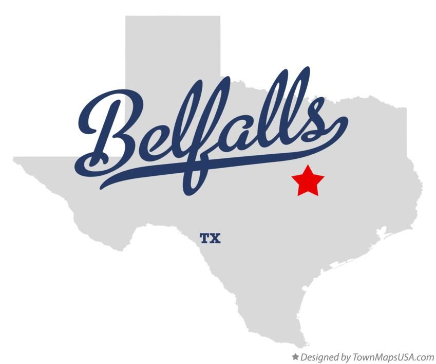Map of Belfalls Texas TX