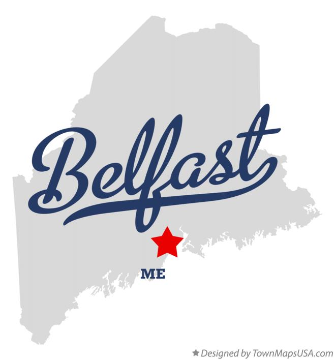 Map of Belfast Maine ME
