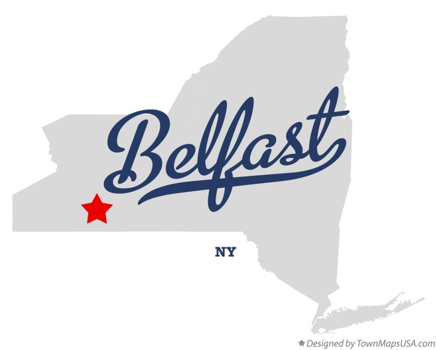 Map of Belfast New York NY
