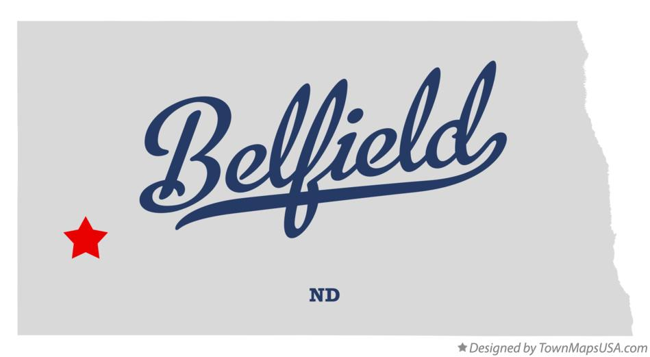 Map of Belfield North Dakota ND