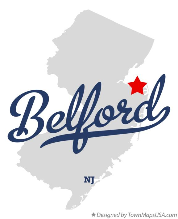 Map of Belford New Jersey NJ