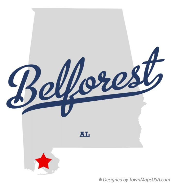 Map of Belforest Alabama AL