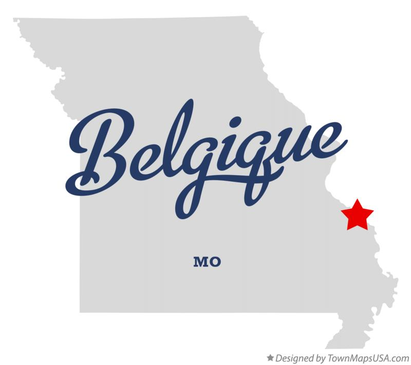 Map of Belgique Missouri MO