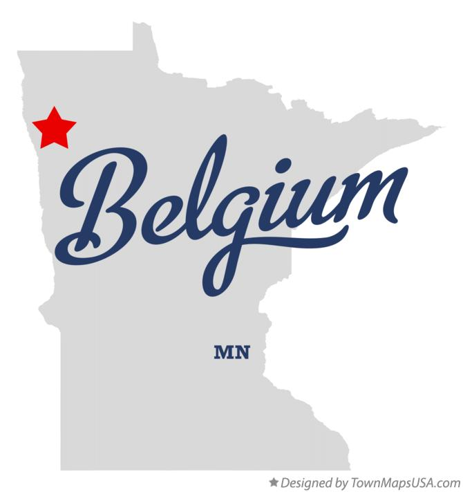 Map of Belgium Minnesota MN