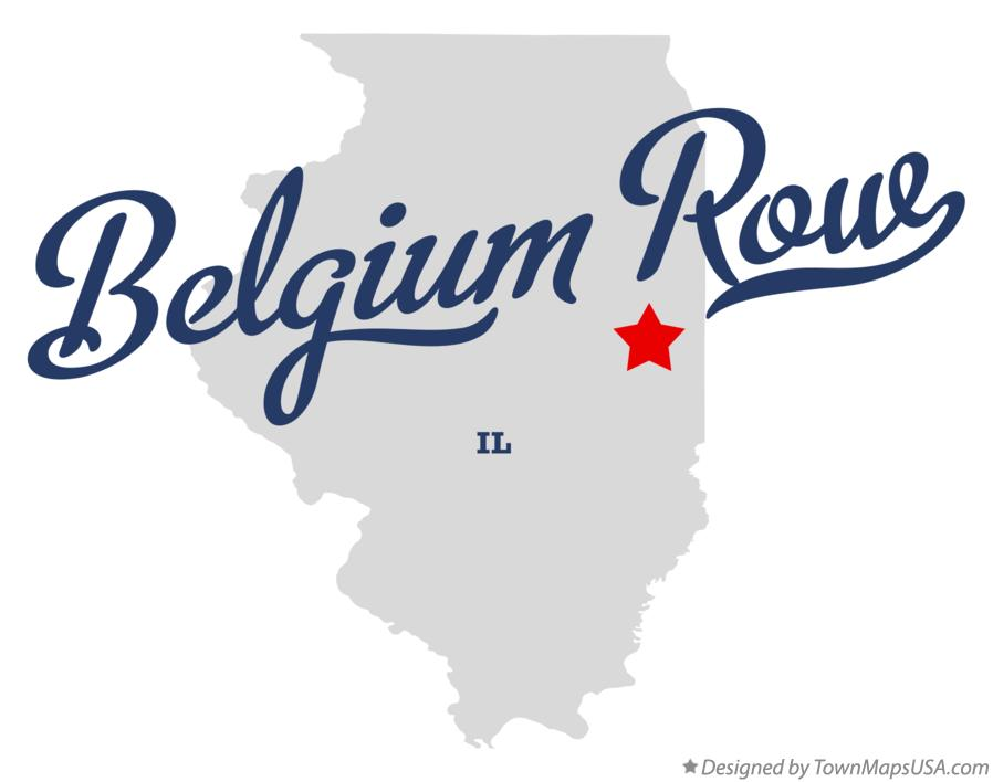 Map of Belgium Row Illinois IL