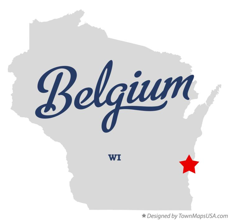 Map of Belgium Wisconsin WI