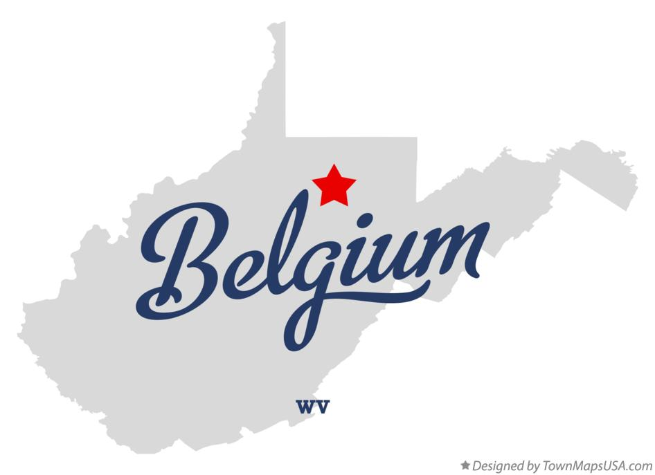 Map of Belgium West Virginia WV