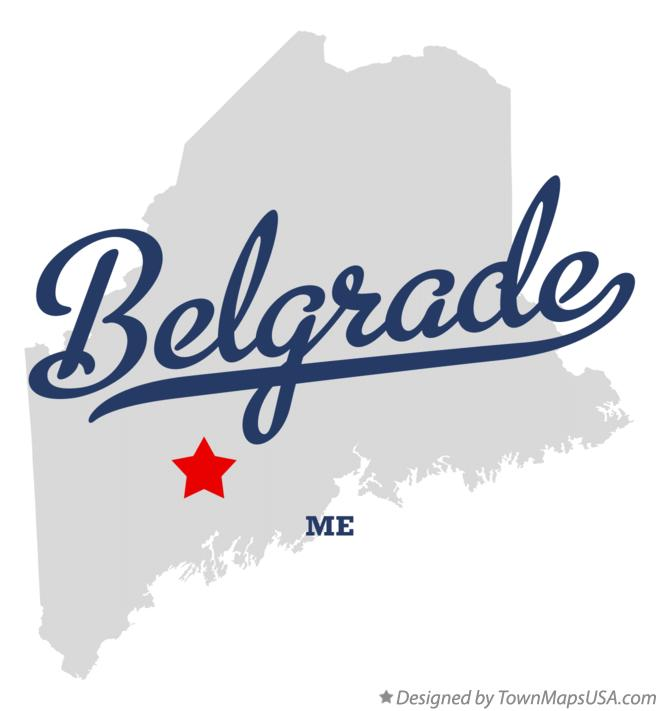 Map of Belgrade Maine ME
