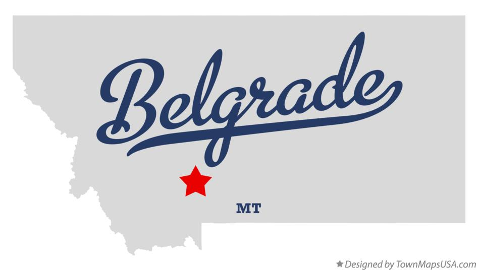 Map of Belgrade, MT, Montana