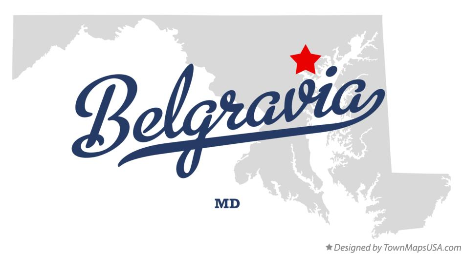 Map of Belgravia Maryland MD