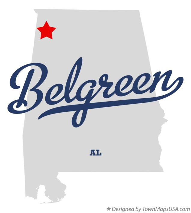 Map of Belgreen Alabama AL