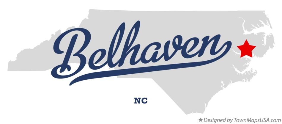 Map of Belhaven North Carolina NC