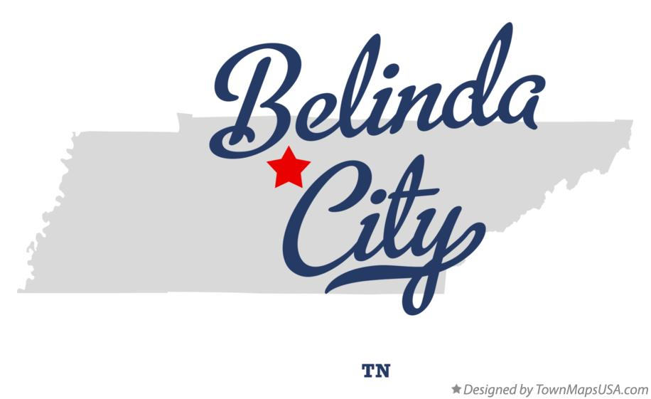Map of Belinda City Tennessee TN