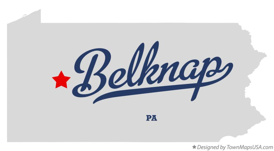 Map of Belknap Pennsylvania PA
