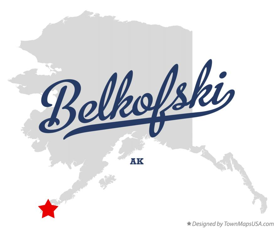 Map of Belkofski Alaska AK
