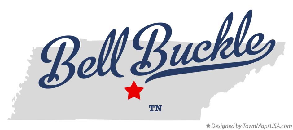 Map of Bell Buckle Tennessee TN