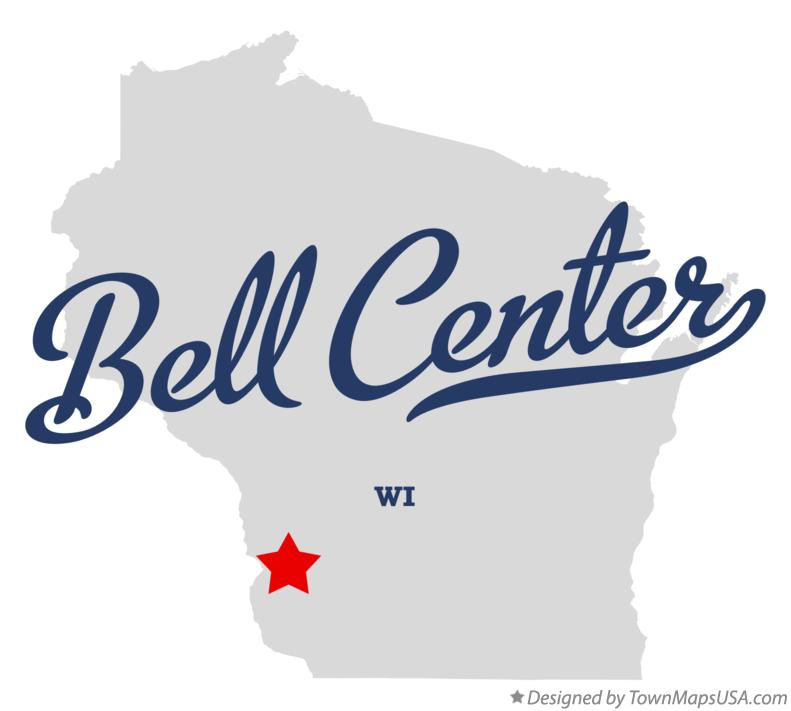 Map of Bell Center Wisconsin WI