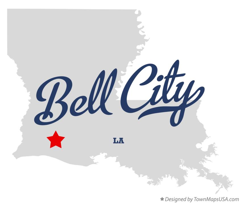 Map of Bell City Louisiana LA