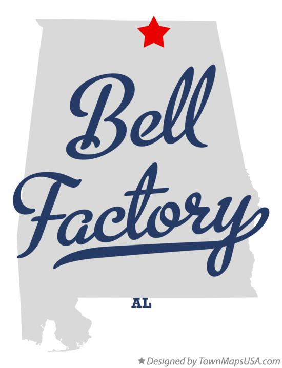 Map of Bell Factory Alabama AL