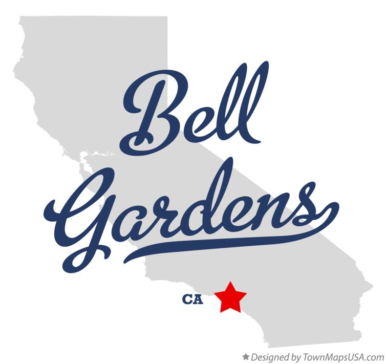 Map Of Bell Gardens Ca California