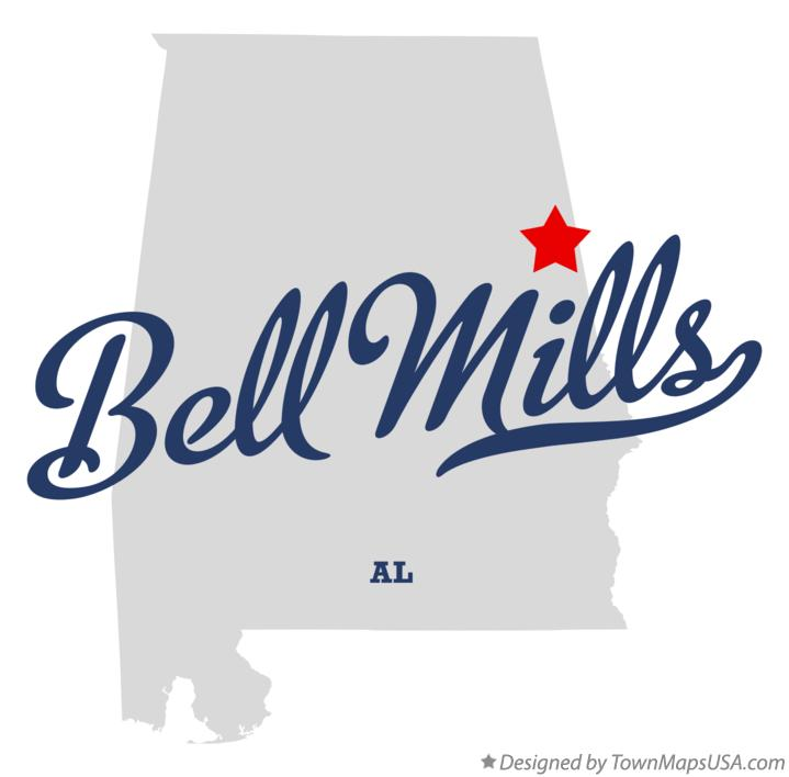 Map of Bell Mills Alabama AL