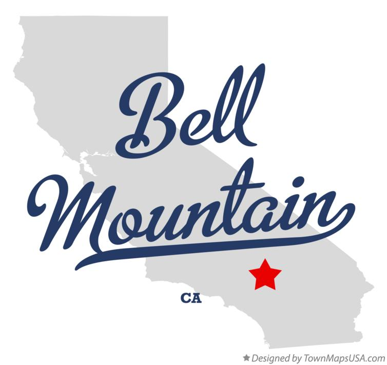 Map of Bell Mountain California CA