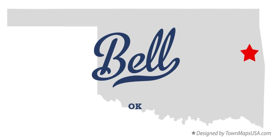 Map of Bell Oklahoma OK