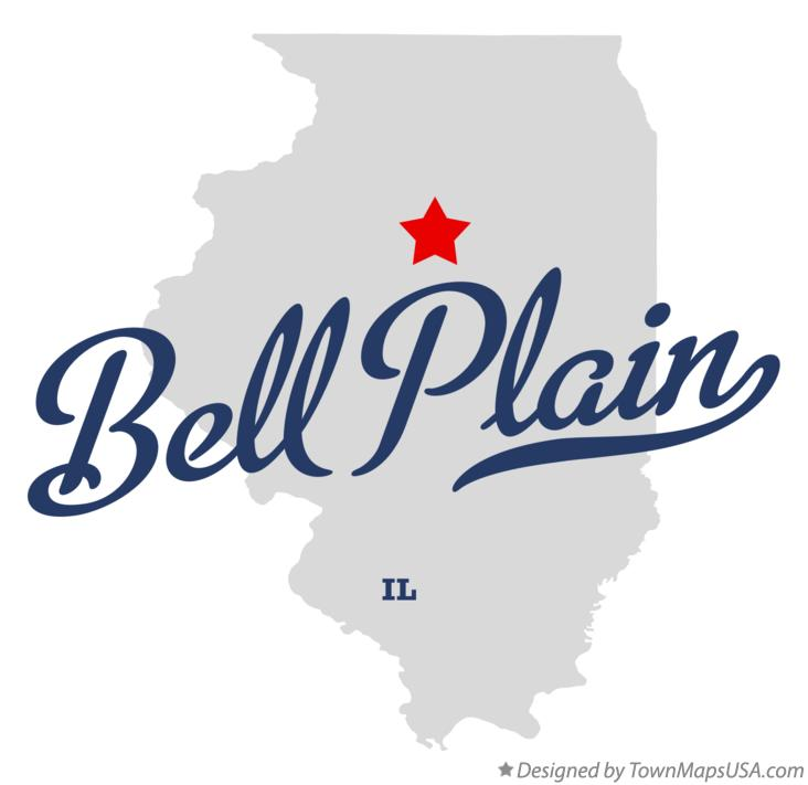 Map of Bell Plain Illinois IL