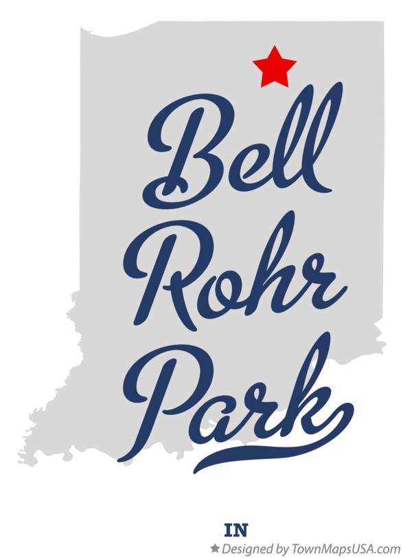 Map of Bell Rohr Park Indiana IN