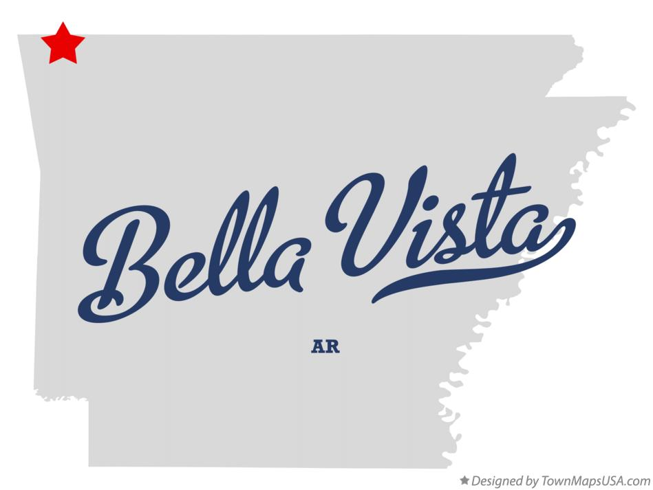 Map Of Bella Vista Ar Arkansas