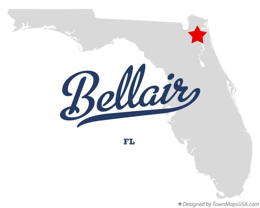 Map of Bellair Florida FL
