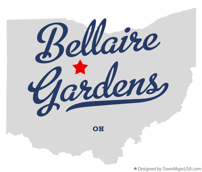 Map of Bellaire Gardens Ohio OH