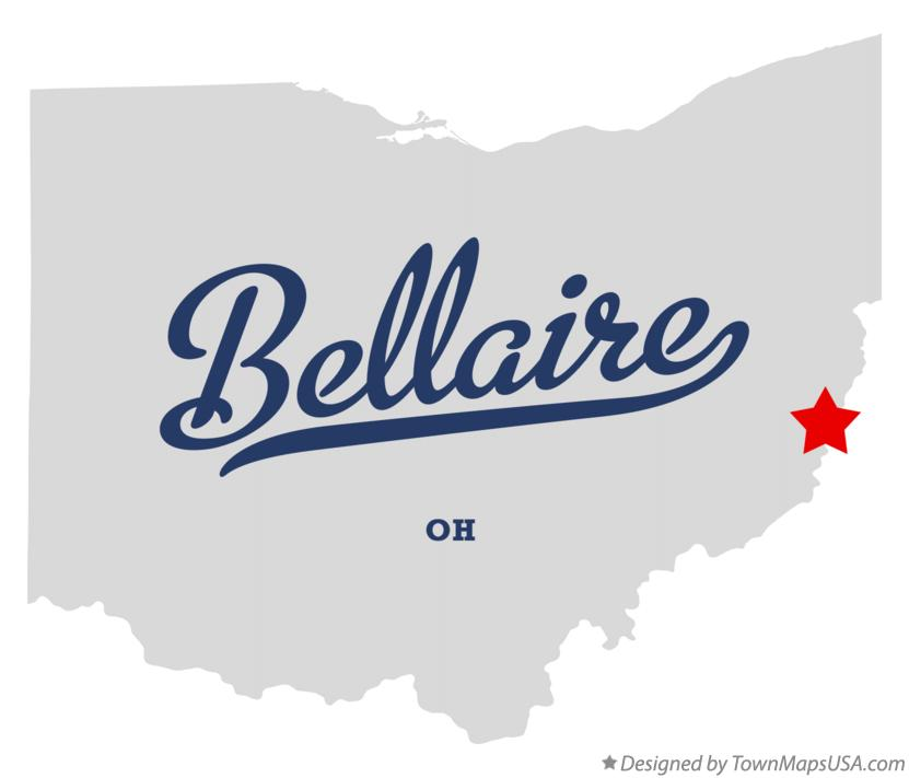 Map of Bellaire Ohio OH