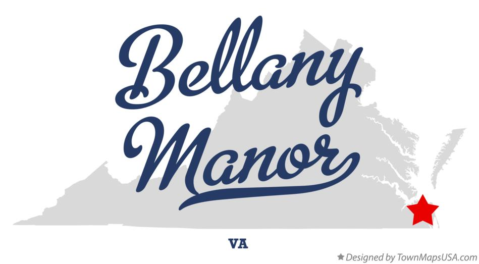 Map of Bellany Manor Virginia VA